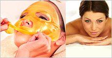 Guldmaske til ansigt, 1 pk. med 10 stk fra Paingone.dk, værdi kr. 434,-