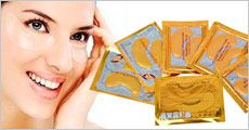 NANO guld øjenmaske, 1 pk. med 10 stk. fra Paingone.dk, værdi kr. 234,-