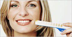 1 stk. tandblegningspen inklusiv fragt, værdi kr. 299