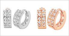 Ørestikkere m/ 2 rækker østrigske krystaller fra Beautidesign.dk, værdi kr. 369,-