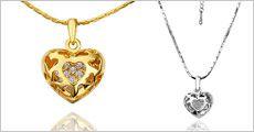 Kæde m/hjertevedhæng og østrigske krystaller fra Beautidesign.dk, værdi 349,-