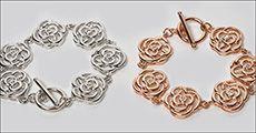Armbånd m/runde flotte led + østrigske krystaller, Beautidesign,  værdi kr. 498