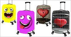 Kuffertcover, fås i forskellige størrelser og designs, inkl. fragt, værdi kr. 414,-