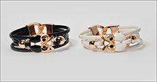 Armbånd i PU læder m/uglemotiv forhandlet af Beautidesign, værdi kr. 198,-