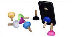 3 stk. mobiltelefon-svuppere med sugekop forhandlet fra Smileyphone.dk, værdi 149
