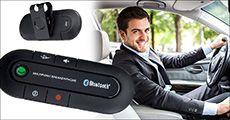 Håndfrit Bluetooth sæt til bilen forhandlet af 4mobil.dk, værdi kr. 399,-