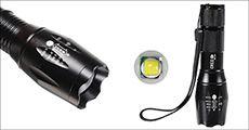 Vandtæt zoom LED-lommelygte, inklusiv fragt, værdi kr. 414,-