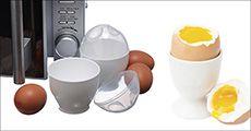 2 stk. Smiley-egg beholdere til mikroen, inkl. fragt, værdi kr. 199