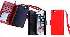 iPhone holder og cover i PU-læder forhandlet fra Beautidesign.dk, værdi kr. 398