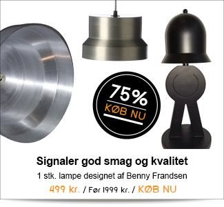 Signaler god smag og kvalitet med en lampe fra Frandsen Design Collection!