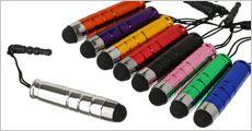 3 stk. mini touch-penne, assorterede farver, inklusiv fragt, værdi kr. 139