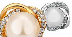Ørestikkere med Shell perle og krystaller fra Beautidesign.dk, værdi kr. 349,-