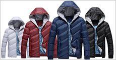 Gåseduns jakke til mænd forhandlet fra 4mobil.dk, værdi kr. 1413,-