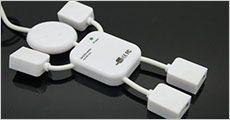 Mr. USB med 4 porte, inklusiv fragt, værdi kr. 204