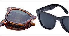 1 stk. sammenklappelig solbrille, inklusiv fragt, værdi kr. 217