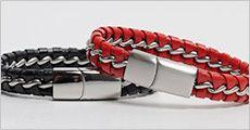 Læderarmbånd, vælg ml. flere farver og str, inkl. fragt, værdi kr. 698