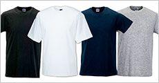 10 stk. ensfarvede kortærmede Russell t-shirts fra Houseofhansen.dk, værdi kr. 990,-