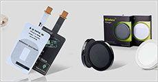 Wireless oplader-plade i sort eller hvid, værdi kr. 280
