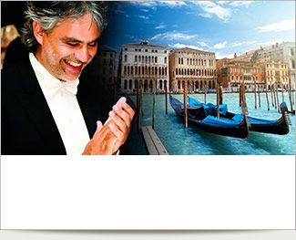 Andrea Bocelli, Venedig, Verona, italienske vingårde, skøn mad.. Tag på en fantastisk ferie til Italien...