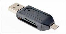 USB Card reader til PC og mobil-enheder bl.a. Androids, inkl. fragt, værdi kr. 139,-