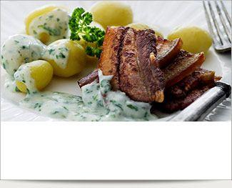 Dejligt ophold med lækker, lækker mad - Stegt flæsk m. persillesauce AD LIBITUM