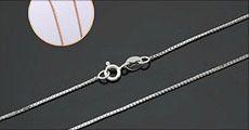 Sølvhalskæde fra 4mobil.dk, vælg ml. hvidguld eller rosa guld, værdi kr. 314,-
