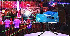 Mini laser projector forhandlet fra Idealproducts, værdi kr. 439,-