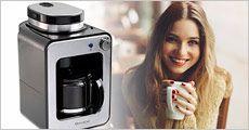 Domoclip kaffemaskine m. indbygget kværn fra Dealtorvet, værdi kr. 1399,-