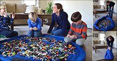 Opbevaringstaske til legetøj fra Try Us ApS, værdi kr. 494,-
