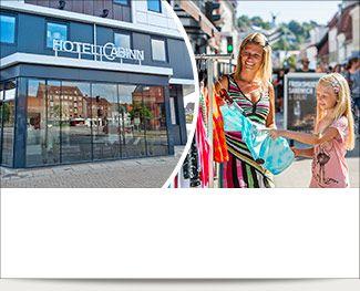 Tag på tur til Vejle og bo centralt på CABINN lige ved åen, cafeer og shopping!