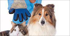 Pelsplejehandske til hund og kat fra 4mobil, værdi kr. 213,-