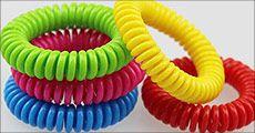 Spiralformede myggearmbånd, vælg ml. 5 ell. 10 stk. fra House of Hansen, normalpris op til kr. 250,-