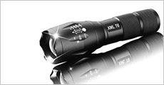 LED-lommelygte inkl. tilbehør og etui, vælg ml. 1-2 stk., fra Modane, normalpris op til kr. 798