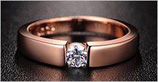 Solitaire ring belagt med hvidguld ell. roseguld fra Modane, værdi kr. 399,-