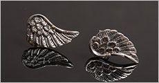 1 par ENGLE VINGER ørestikkere i ægte 925 sølv fra Beautidesign, værdi kr. 498,.