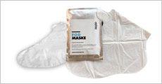 2 pakker fodmasker med 2 fødder i hver, inkl. fragt, værdi kr. 199,-