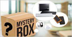 Mystery mobil-pakke med 5-7 gadgets, inkl. fragt, værdi kr. 1199,-