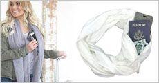 Tube tørklæde med indbygget lomme fra Try Us, normalpris kr. 354,-