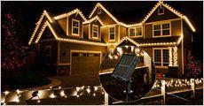 Udendørs lyskæde med solcelle 100 LED, inkl. fragt, værdi kr. 449,-