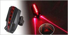 Laserbaglygte med cyklist logo fra Bærbar, vælg ml. 1-3 stk, værdi op til kr. 1197,-