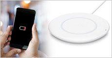 Trådløs QI oplader fra Smileyphone, værdi kr. 299,-
