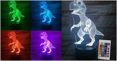 3D Dinosaur illusions LED-lampe fra 4mobil, værdi kr. 599,-