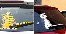 1 stk. bagrude-sticker til bilen fra Try Us, værdi op til kr. 169,-