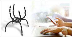 2 stk. edderkoppe mobilholdere fra Stonevang Products, værdi kr. 159,-