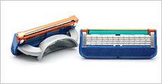 En pakke med 4 stk. barberblade kompatible med Gillette Fusion, værdi kr. 168,-