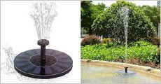1 stk. soldrevet flydende springvand fra The 99 inspirations, værdi kr. 559,-