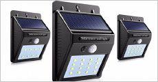 1-2 stk. udendørs solenergi LED-lamper fra The 99 inspirations, værdi op til kr. 709,-