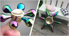 3 stk. luksus Fidget Spinners i flot etui fra Unique By Chanell, værdi kr. 687,-