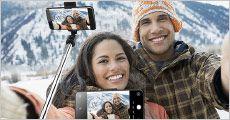 Selfiestang - mobilholder, sort eller hvid, værdi kr. 449,-