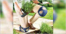 1 par praktiske knæbeskyttere til havearbejdet, værdi kr. 459,-